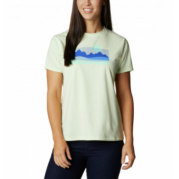 Koszulka z szybkoschnąca z filtrem UV damska Columbia Sun Trek™ SS Graphic Tee
