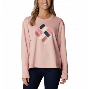 Bluza bawełniana damska Columbia Logo™ French Terry Crew