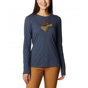 Koszulka z bawełną damska Columbia Hidden Haven™ Long Sleeve Tee